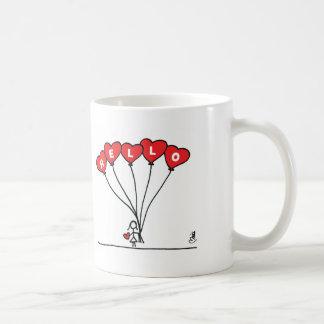 HELLO Balloons Mug by HeartsAndAll