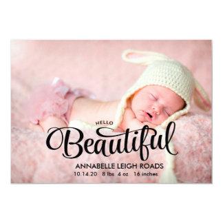 Hello Beautiful Birth Announcement