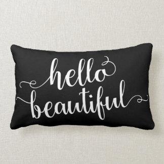 Hello Beautiful Lumbar Pillow