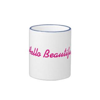 Hello Beautiful! Ringer Coffee Mug