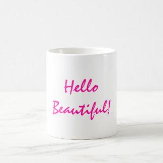 Hello Beautiful Positive Affirmation Coffee Mugs