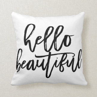 Hello Beautiful Decorative Pillow : Teen Pillows - Decorative & Throw Pillows Zazzle