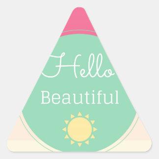 Hello Beautiful Triangle Sticker