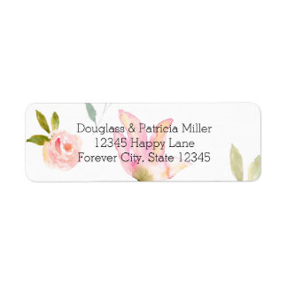 Hello Beautiful Watercolor Floral Label