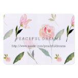 Hello Beautiful Watercolor Floral Large Business Card