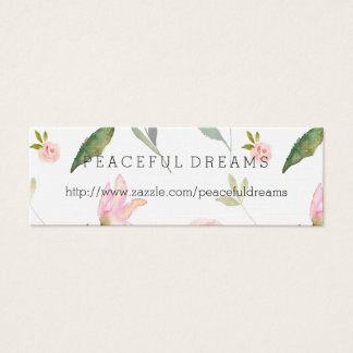 Hello Beautiful Watercolor Floral Mini Business Card
