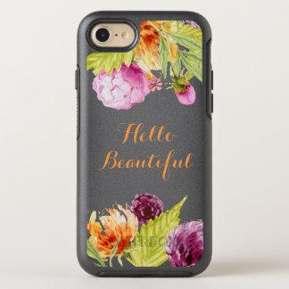 Hello Beautiful Watercolor Garden Flowers OtterBox Symmetry iPhone 7 Case