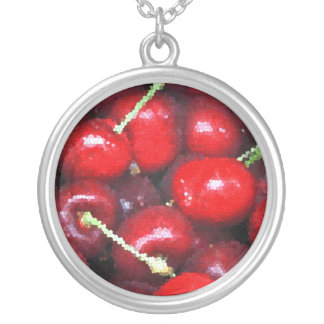 Hello Betty! Stained Glass Cherries Necklace