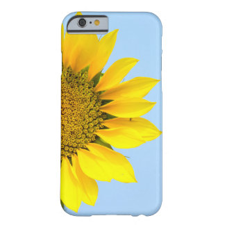 Hello Big Smile/Yellow Sunflower Against Blue Sky Barely There iPhone 6 Case