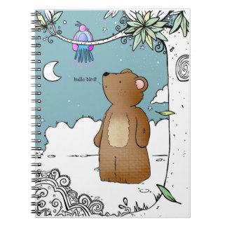 Hello Bird said Mr Bear - notebook