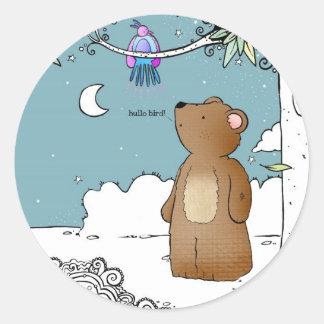 Hello Bird said Mr Bear - stickers