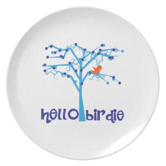 Hello Birdie Dinner Plate