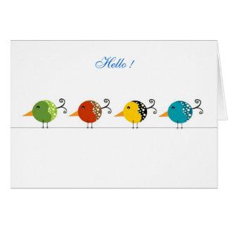 Hello Birdie Stationery Note Card