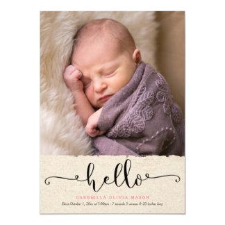 Hello Birth Announcement