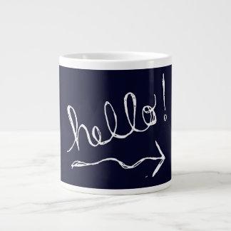 Hello Blue Jumbo Mug