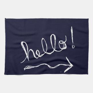 Hello Blue Kitchen Towel