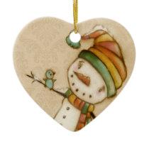 Hello Bluebird - Ceramic Ornament