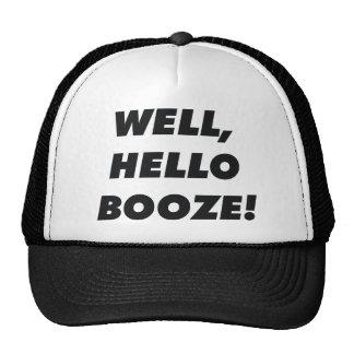Hello booze trucker hat