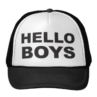 Hello Boys Trucker Hat