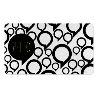 Hello / Bubble chat Business Card