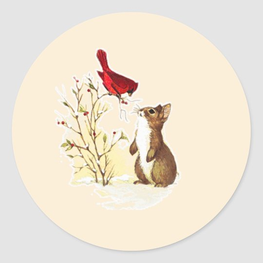 Hello bunny stickers