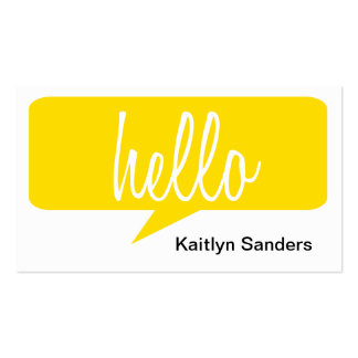 HELLO Double-Sided STANDARD BUSINESS CARDS (Pack OF 100)
