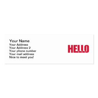 Hello Double-Sided Mini Business Cards (Pack Of 20)