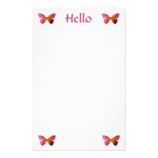 Hello, butterflies stationery