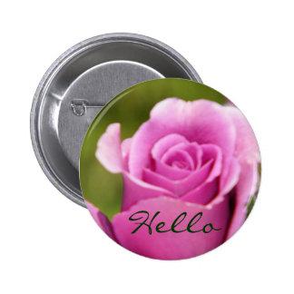 Hello_Button Pin Redondo 5 Cm