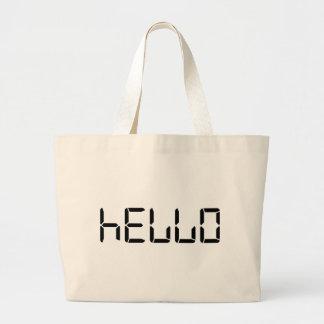 Hello - Calculator Large Tote Bag
