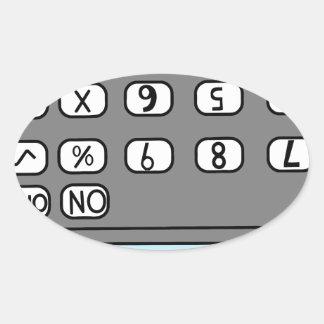 hello calculator oval sticker