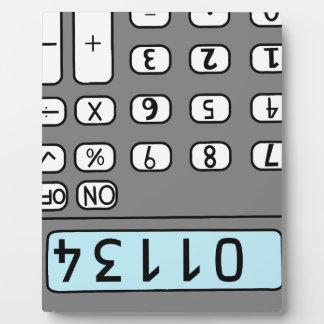 hello calculator plaque