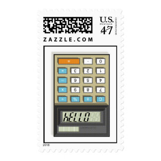 Hello Calculator Postage Stamps