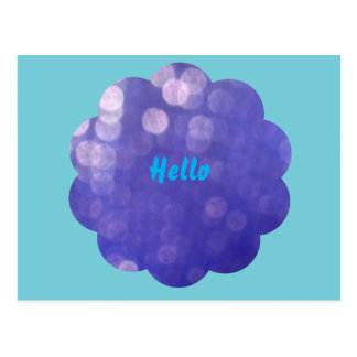 Hello card with flower