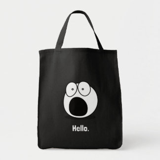 Hello Cartoon Tote Bag