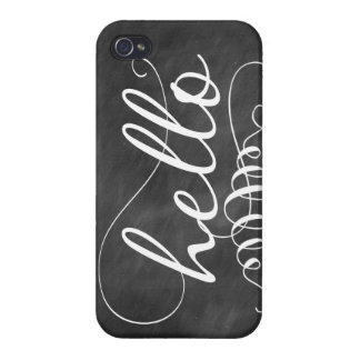 Hello Chalkboard iPhone Case iPhone 4/4S Cases