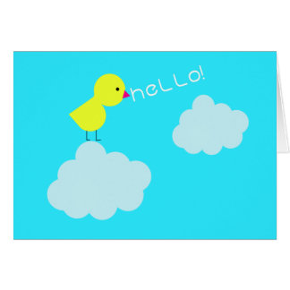 Hello Chick! Greeting Card