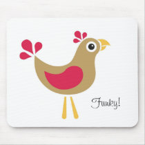 Hello Chicken! Funky Chicken Mouse Mat