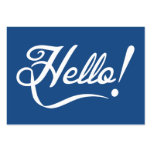 Hello Classic Blue Large Business Card