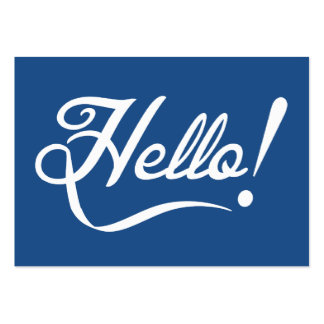 Hello Classic Blue Large Business Cards (Pack Of 100)