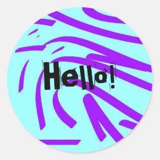 Hello! Classic Round Sticker