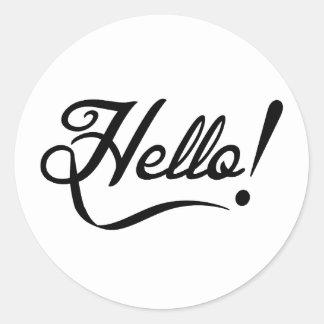 Hello Classic Round Sticker