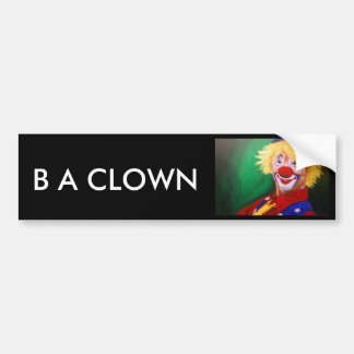 Hello Clown Bumper Sticker