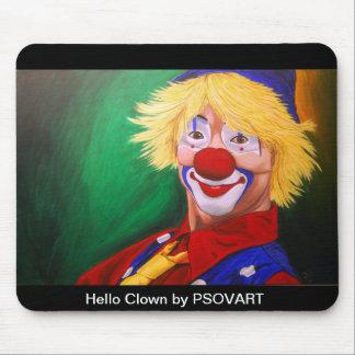 Hello Clown Mouse pad