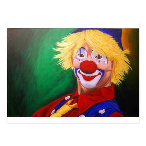 Hello Clown Post Cards