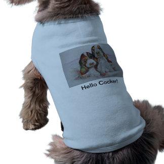 Hello Cocker! In Blue T-Shirt