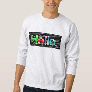 Hello Colour Sweatshirt Ash