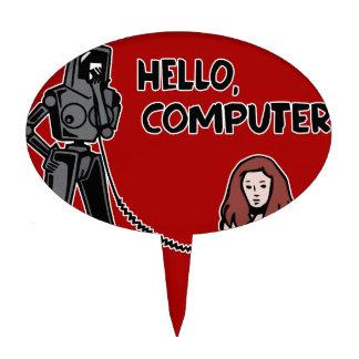 Hello, Computer Cake Topper