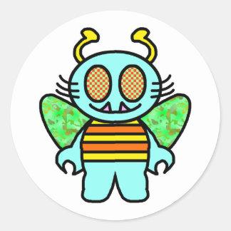hello cootie classic round sticker