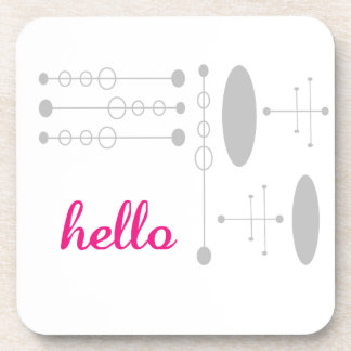 Hello Cute Colorful Hello Gifts Coaster